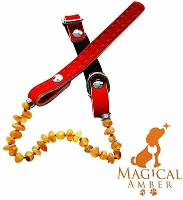 Luxury Magical Amber Flea,Tick And Pain Relief Collar For Pets / 100% - 100% - • EUR 33,51