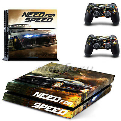 Need for Speed Vinyl Skin Stickers Console 2 Controllers For PS4 Playstation