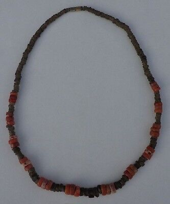 Ancient Translucent Quartz Beads Necklace With Agate / Carnelian .