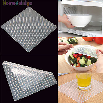 Stretch and Fresh Re-usable Food Wraps As Seen On TV Kitchen Accessories Tools