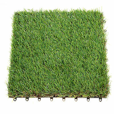 4X Synthetic Artificial Grass Turf Astro Lawn Garden Landscape 30*30cm 4cm Thick