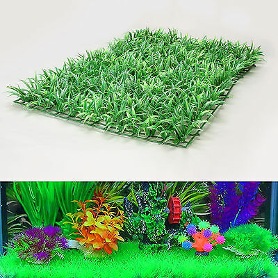 Plastic Artificial Grass Synthetic Turf Garden Ornament Plant Aquarium Fake Lawn