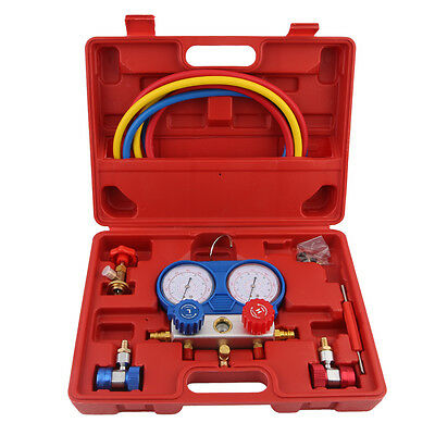R-134A Air Conditioning AC Diagnostic Manifold Gauge Refrigerant Tool Set