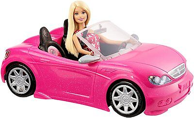 BARBIE Doll and Convertible Car - Glam Playset - From Mattel - BRAND NEW!