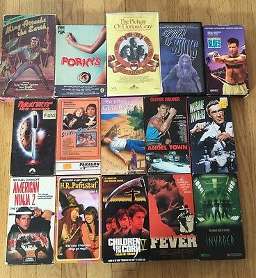 Huge Horror, Comedy Action Sci Fi 15 Vhs Tape Lot!!