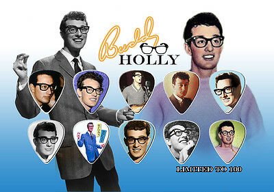 10 Buddy Holly & the Crickets Guitar Pick s Peggy Sue Everyday Greatest Hits oop
