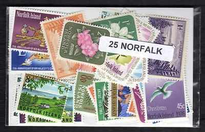 Norfolk - Norfolk Island 25 timbres différents