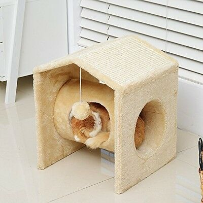 PawHut Cat Tree Pet Condo House Activity Center Scratcher Scratching Post Sisal