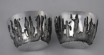 Pair of Signed DON SHEIL '79 Stalagmite Nectar Cups / Whisky Water Tumblers