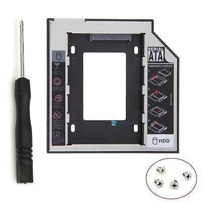 12.7mm Universal SATA 2nd SSD HDD Hard Drive Caddy for DVD-ROM CD Optical Bay AD