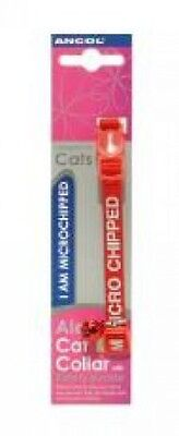 Ancol I Am Microchipped Cat Collar With Safety Buckle, Red
