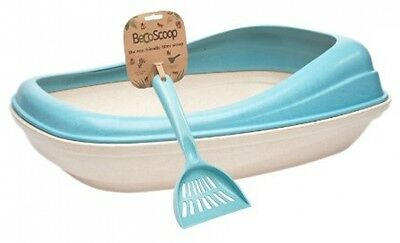 BecoThings Eco-Friendly BecoTray And Litter Scoop Combo - Blue