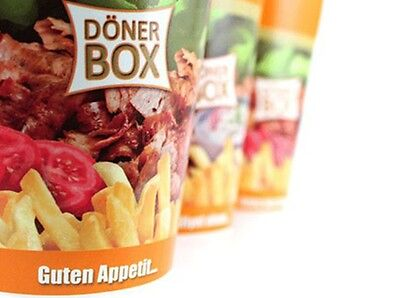 Döner to go 50St - 500St 750ml Box Dönerboxen Nudelbox Foodbox Pappe Take away