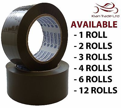 48Mm X 66M Heavy Duty Brown Packaging Tape Scotch Parcel Sellotape Cello-Tape