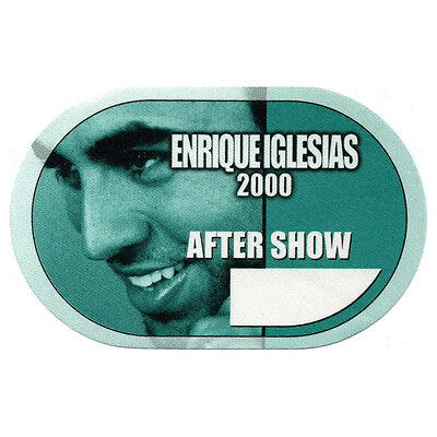 Enrique Iglesias Green Aftershow 2000 Backstage Pass