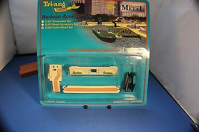 Triang Minic Ships Tanker Wharf Set. Carded