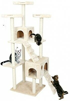 PAWZ Road Cat Tree Pet Home Furniture Cat Tower Toys Scratching Ball Post Beige