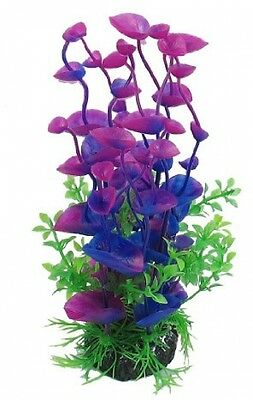 Sourcingmap Purple Green 8.3inch Water Plant Decoration For Aquarium Fish Tank