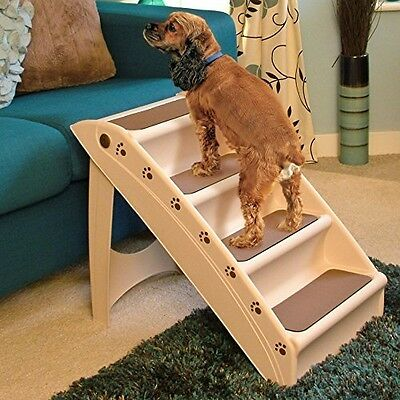 Lightweight Folding Dog Steps - Compact Stairs To Help Pets With Mobility For