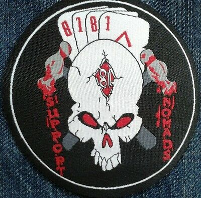 MC Woven Patch 81 SUPPORT NOMADS Outlaw Bikers Angels Hells Riders Sew / Iron On