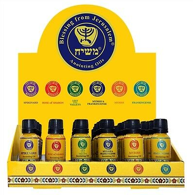Set of 36 Essential Biblical Blessed Anointing Oils 15ml each from the Holy Land