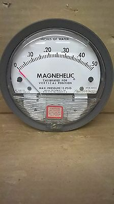Dwyer Magnehelic 2000-0 Diff. Pressure Gauge, 0-0.5 In H2O