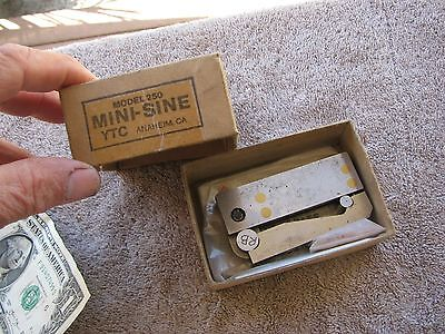 Younger Tool Co USA mini sine bar  tool machinist toolmaker