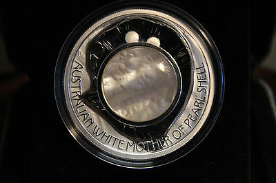 2015 Australian White Mother of Pearl Shell  $1 Proof 1oz Silver Coin Australia