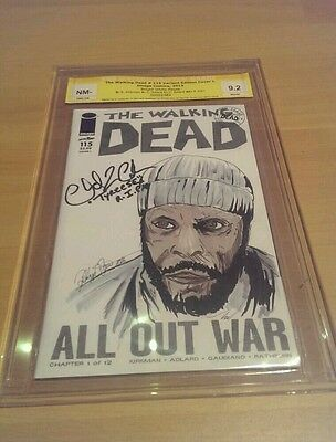 The Walking Dead #150 Blank Sketch Tyreese Chad Coleman by Philipp Dörr EGS 9.2