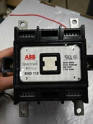 ABB EHD 110 Specturm Solid State Drive Contactor 2-Pole 110A 600VDC Coil - USED