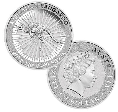 Lot of 2 - 2016 Australian 1oz Silver Kangaroo .9999 Fine BU