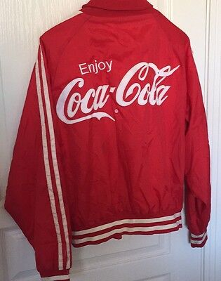 Vintage Coca Cola Button Jacket Size Large Made In USA