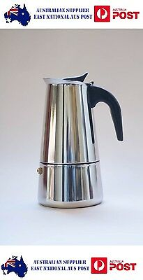 6 Cup Stove Top Stainless Steel Espresso Moka Coffee Percolator Expresso Cafe