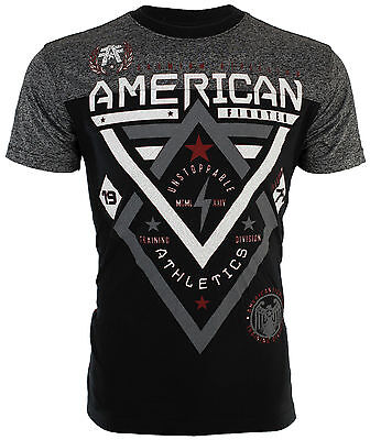 AMERICAN FIGHTER Mens T-Shirt ALASKA PATTERN Biker ELEPHANT PRINT Gym UFC $40