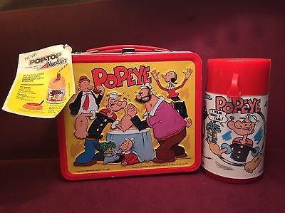 1980 Popeye Lunchbox Aladdin Unused with hanger tag