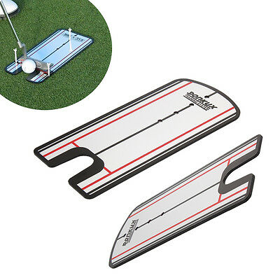 Golf Putting Mirror Stroke Posture Alignment Training Aid Practice Swing Trainer