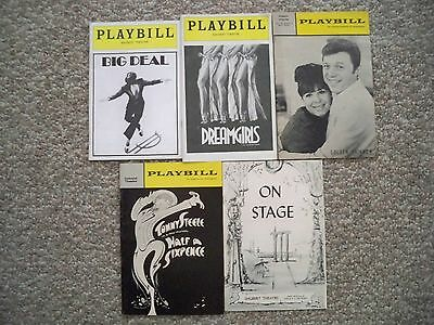 LOT OF 5 TRYOUT MUSICAL PLAYBILLS Mostly BOSTON, MA 1957 - 1986