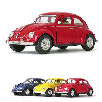 "1 Pc Classic Vw Beetle 1967 5"" Alloy Diecast Model Cars Pull Back Function Toy"