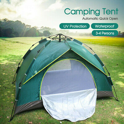 New Double Layer Instant Auto Pop Up Camping Tent Outdoor 3-4 Persons Shelter