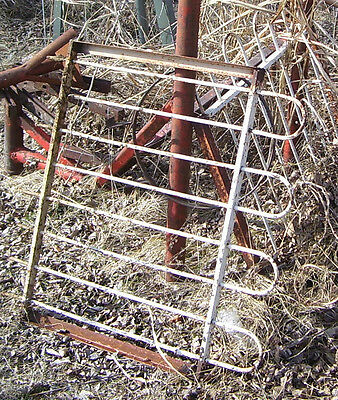 architectural salvage  iron fence /window security bars or garden gate parts