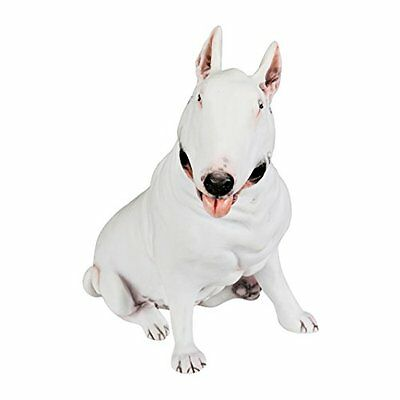Bull Terrier Hand Painted Collectible Figurines Solid Statue 5.6 White