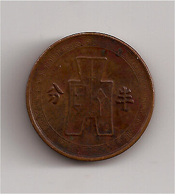 World Coins - China 1/2 Fen 1936 Coin KM# 346