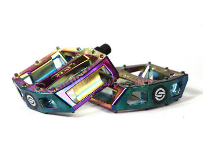 NEW Salt Am Oil Slick PC Pedals Jet Fuel Rainbow BMX Pedals