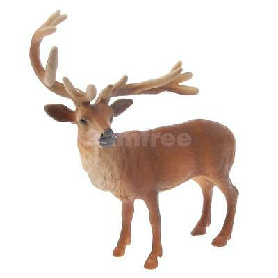 Male Red Deer Model Figure Kids Collectible Figurine Educational Animal Toy