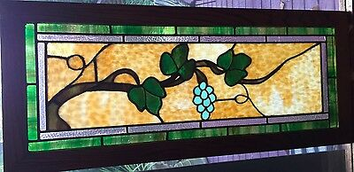 hanging grapes stained glass window