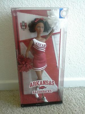 BARBIE COLLECTOR 2012 ARKANSAS Razorbacks AA *NEW* doll NRFB Cheerleader
