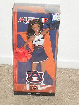 BARBIE AUBURN UNIVERSITY CHEERLEADER AA PINK LABEL NIB Adult Collector Tigers