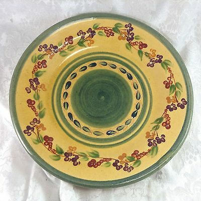"""Terre e Provence France 11.75"""" Flowers Floral Dinner Pottery Plate #A"""