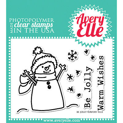 """Avery Elle Clear Stamp Set 4""""X3""""-Be Jolly"""