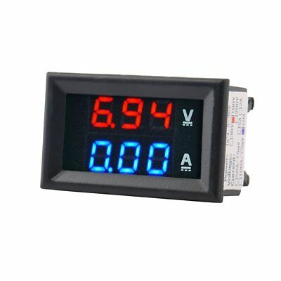 100V 10A DC Digital Voltmeter Ammeter Blue Red LED Amp Volt Meter Current Shunt